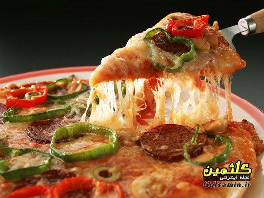 پیتزا مکزیکی با سوسیس