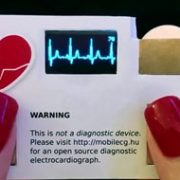 Image result for کارت ویزیت مجهز به حسگر شمارش ضربان قلب