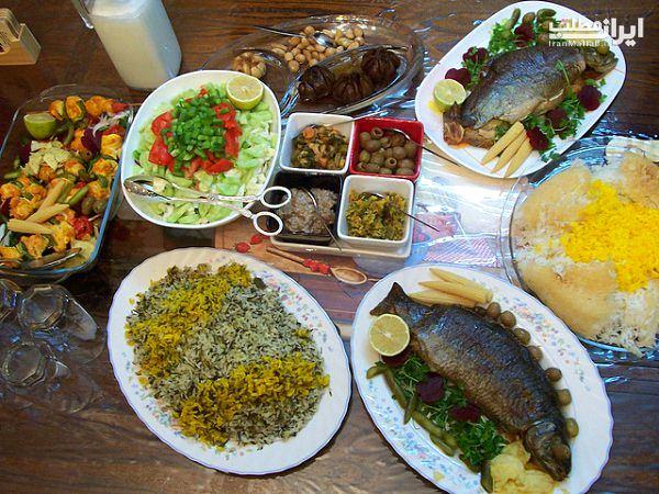 انواع تزیین غذا عکس تزیین غذا سفره ایرانی مدل تزیین غذا