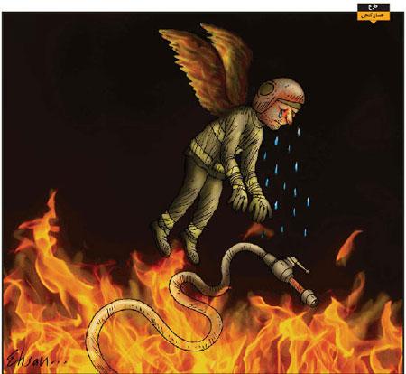 کاریکاتور آتش نشانان قهرمان پـلاسکو , کاریکاتور وتصاویر طنز