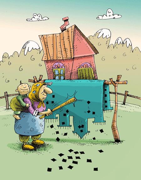 کاریکاتور خونه تکونی نوروز , کاریکاتور خانه تکانی
