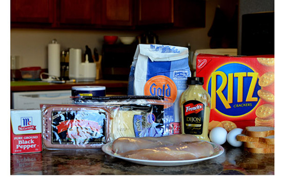 چیکن کوردون بلو؛ رول مرغ و ژامبون و پنیر