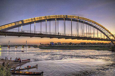 پل سفید اهواز,تاریخچه پل سفید اهواز,عکس پل سفید اهواز