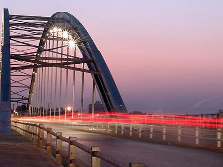 پل سفید اهواز,تاریخچه پل سفید اهواز,پل معلق