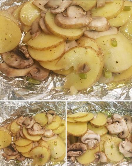 طرز تهیه قارچ و سیب زمینی, مواد لازم برای تهیه قارچ و سیب زمینی با فویل