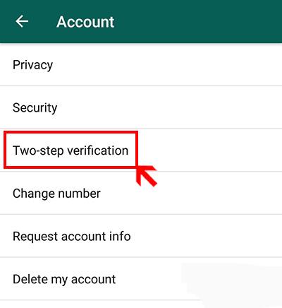 افزایش امنیت واتساپ, تایید دو مرحلهای در واتس آپ