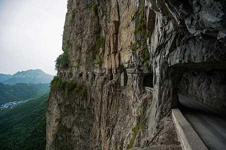 تونل گولیانگ,جاده تونلی گولیانگ,عکس های جاده تونلی گولیانگ