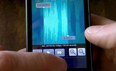 گوشیهای اندرویدی, ساخت زنگ گوشی از روی یک آهنگ مستقیم