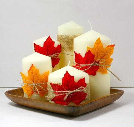 اصول چیدمان خانه در پاییز, تزیین میز در فصل پاییز