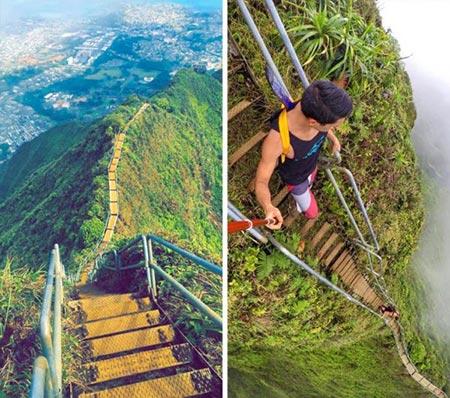 خطرناک ترین پله ها,پله های خطرناک,پله های هایکو