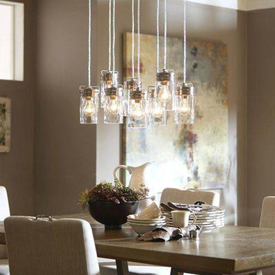 روش های نورپردازی اتاق غذاخوری, نورپردازی دکوراسیون اتاق غذاخوری