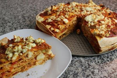 درست کردن پیتزا با نان ترتیلا, پخت پیتزا با نان ترتیلا