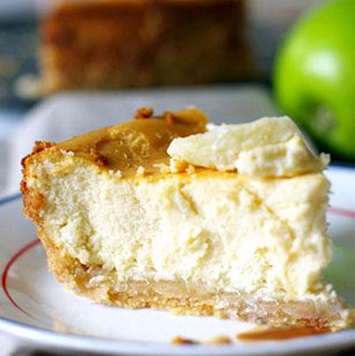 طرز تهیه کیک پنیر, کیک پنیر با سیب