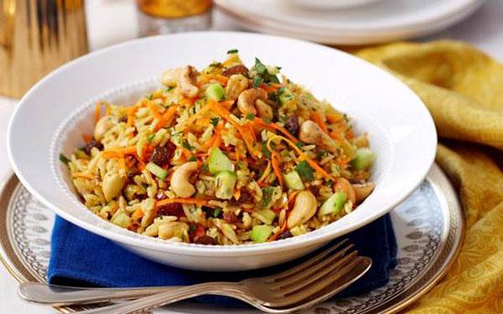 طرز تهیه سالاد برنج هندی
