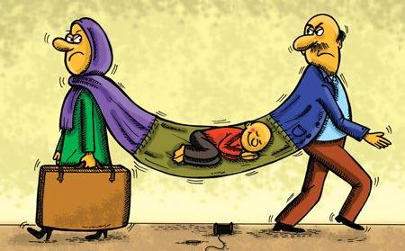 بچه های طلاق,کودکان طلاق,کودکان طلاق زیر 7 سال
